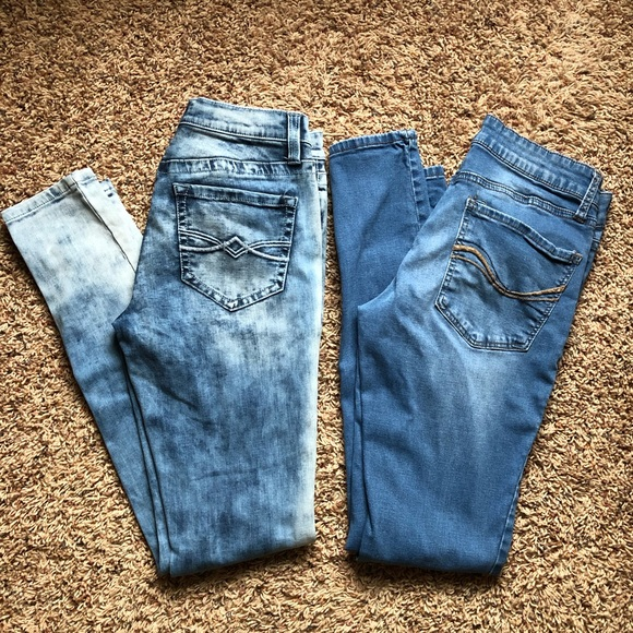 Mudd Denim - 2 Pairs of Stretchy Jegging Type Jeans